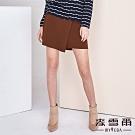 【麥雪爾】棉質鬆緊腰頭不對稱短褲裙