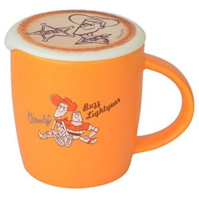 日本Entrex玩具總動員Latte Art馬克杯咖啡杯1435胡迪巴斯光年三眼怪附拉花杯蓋