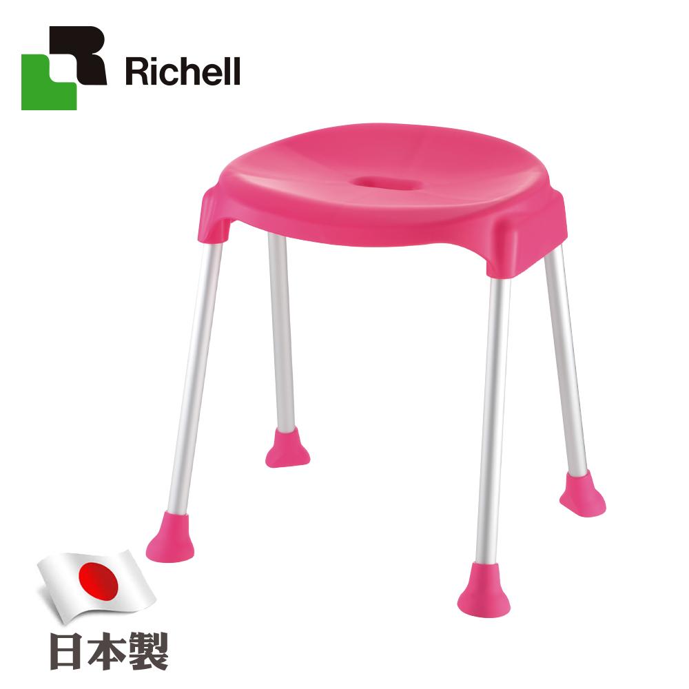 日本利其爾Richell-典雅型斜面椅-粉