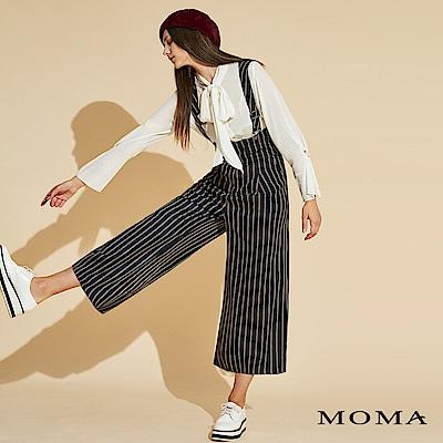MOMA 條紋吊帶長寬褲