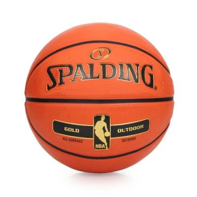 SPALDING 金色NBA-Rubber 籃球 橘金