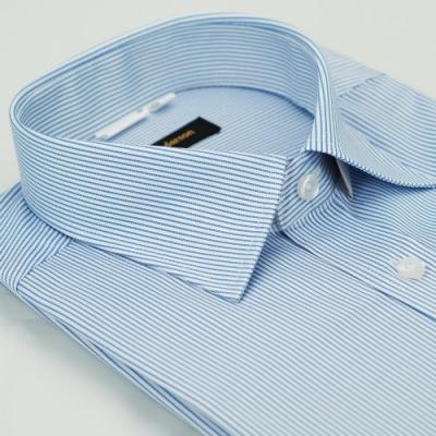 【金安德森】 藍色條紋窄版長袖襯衫fast