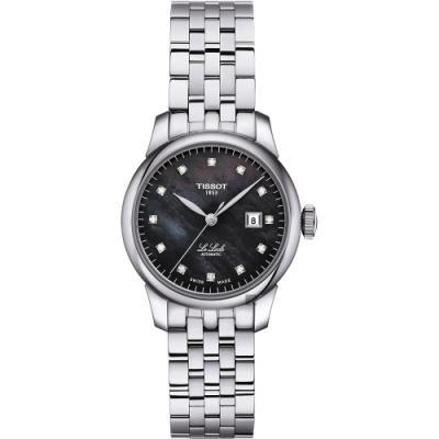 TISSOT 天梭 Le Locle 力洛克 典雅真鑽機械女錶-珍珠貝/29mm