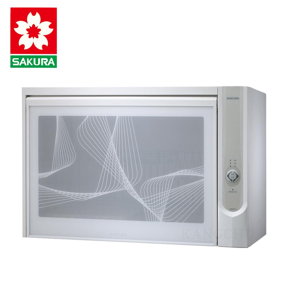 櫻花牌 Q600C 雅白飾板60cm臭氧型懸掛式烘碗機