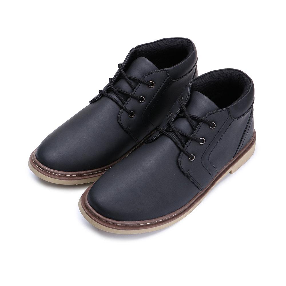 BuyGlasses 質感紳士皮料休閒鞋-黑