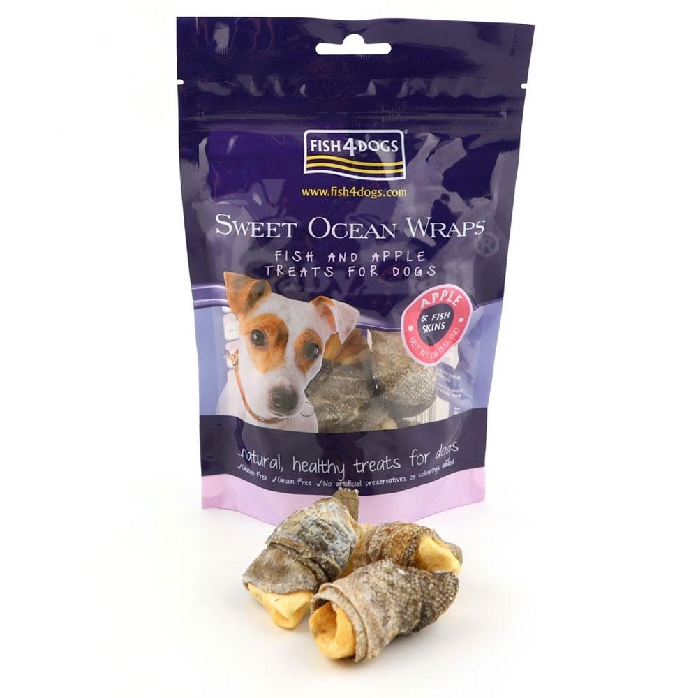 海洋之星FISH4DOGS 營養潔齒點心 蘋果派魚皮100g
