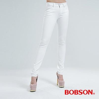 BOBSON 吸濕快乾小直筒色褲-白色 8128-80