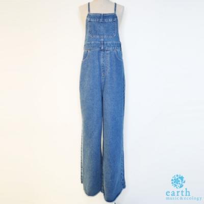 earth music 吊帶牛仔褲