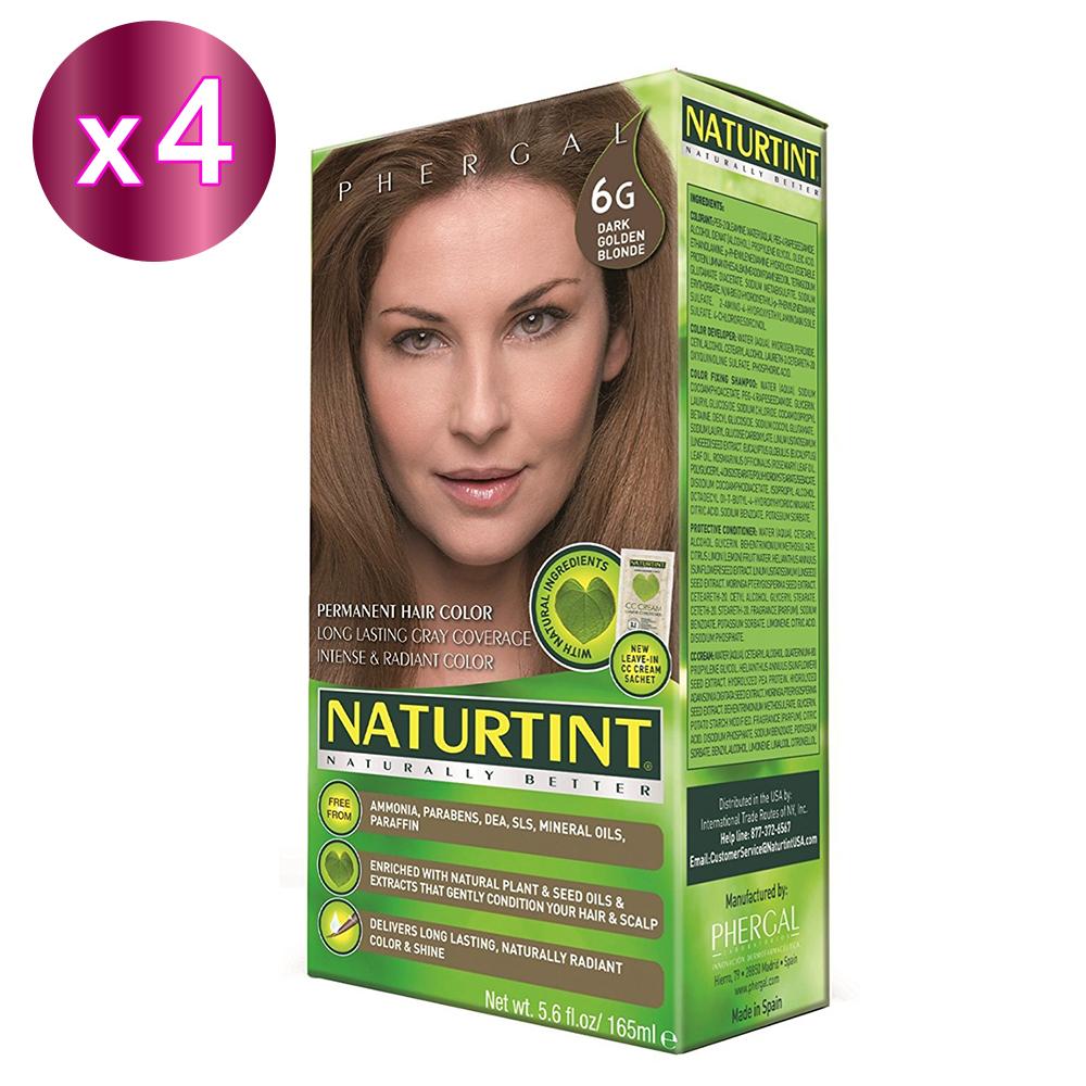 NATURTINT 赫本染髮劑 6G 金棕色x4 (155ml/盒)
