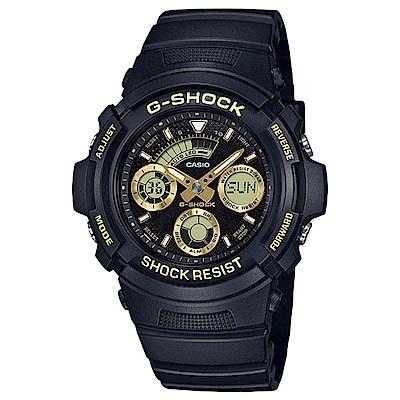 G-SHOCK 金色潮流無限雙顯錶(AW-591GBX-1A9)-金/46.4mm
