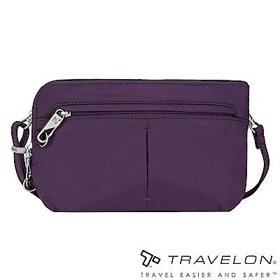 Travelon美國防盜包 質感佳經典防盜斜側包(TL-42952-15 紫/休閒旅遊)