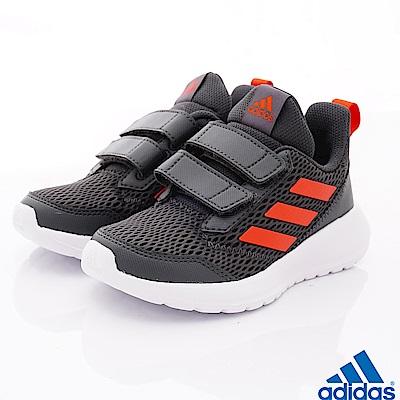 adidas童鞋 輕量透氣運動鞋款 SI896灰(中小童段)
