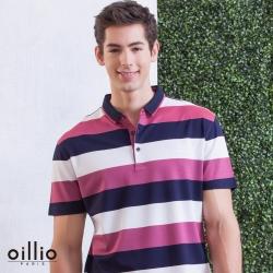oillio歐洲貴族 FIT修身男裝 天絲棉POLO衫 溫柔紳士柔手感 透氣舒適 紅