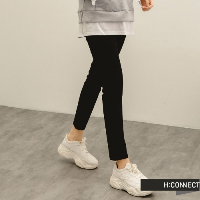 H:CONNECT 韓國品牌 女裝 -基本款微彈合身Skinny長褲-黑色