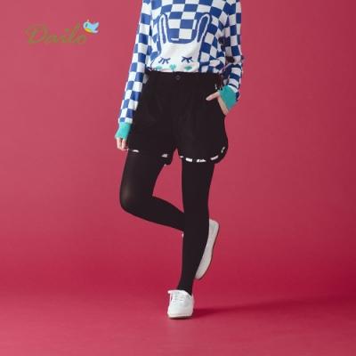 【Dailo】MIT製白點休閒-短褲(黑色)