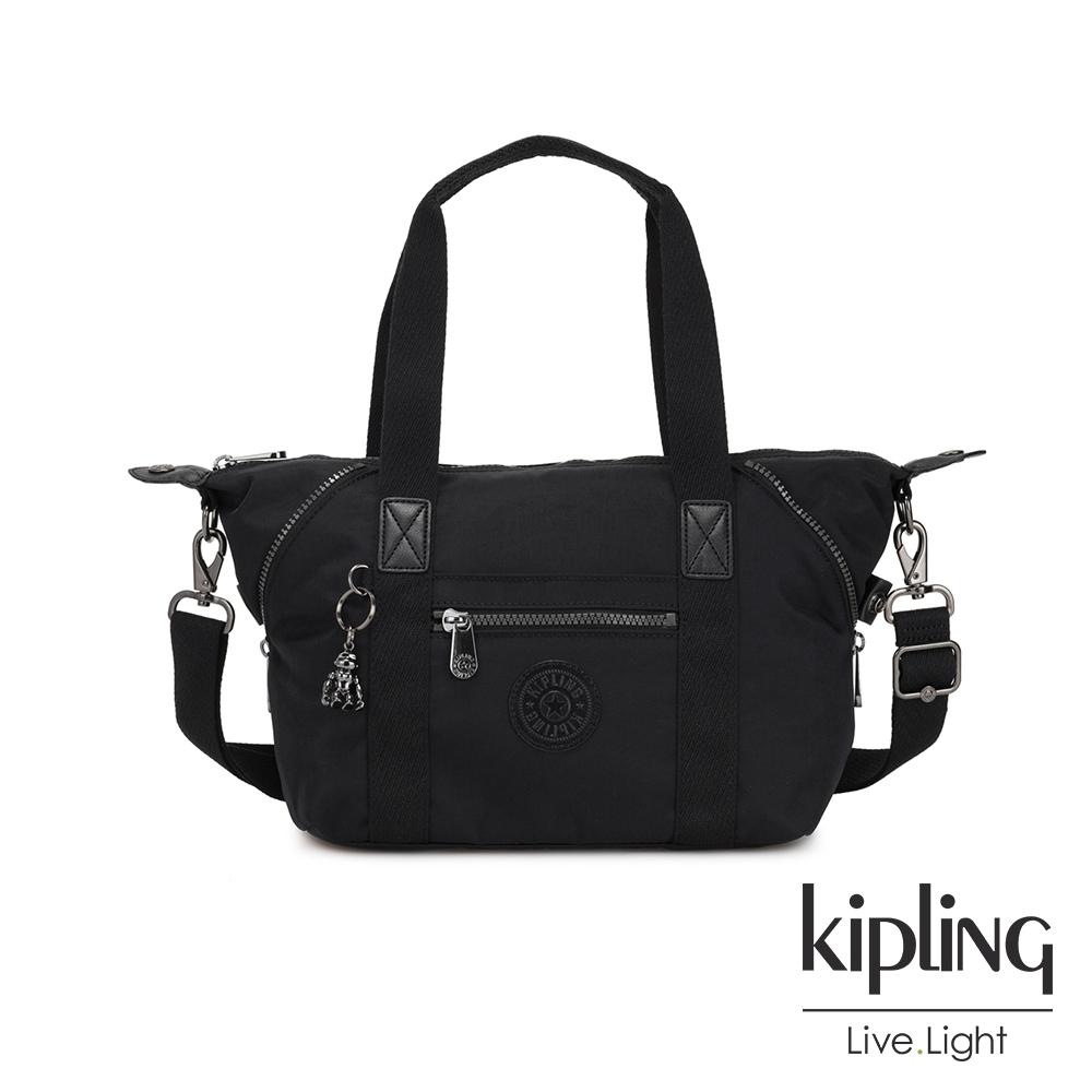 Kipling 極致低調黑手提側背包-ART MINI