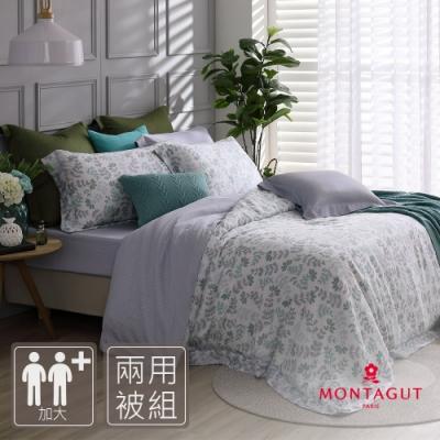 MONTAGUT-蕨色風華-200織紗萊賽爾纖維天絲-兩用被床包組(加大)
