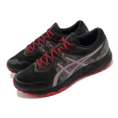 Asics 慢跑鞋 Gel Scram 6 運動 男鞋 亞瑟士 路跑 緩震 野跑鞋 亞瑟膠 黑 紅 1011A850001