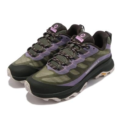 Merrell 戶外鞋 Moab Speed 女鞋 登山 越野 耐磨 黃金大底 保護 緩衝 綠 紫 ML135408