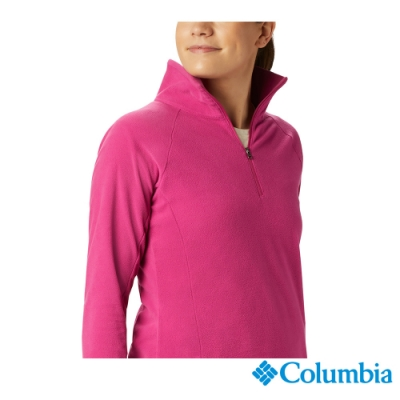 Columbia 哥倫比亞  女款-半開襟刷毛上衣-桃紅 UAK11310