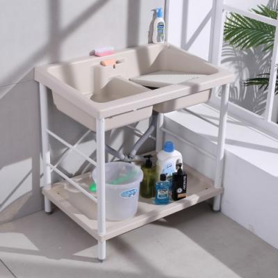【LOGIS】雙槽面ABS塑鋼洗衣槽 86CM * 56CM 洗手槽 洗手台