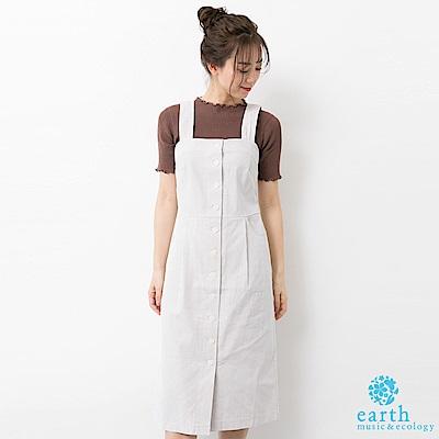 earth music 前排釦合身背心洋裝