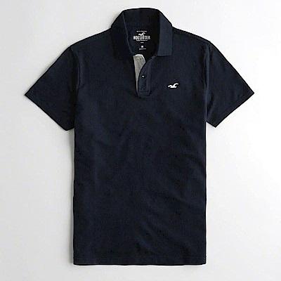 Hollister HCO  短袖 polo 藍色 0912