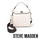 STEVE MADDEN-BKWEEN 印花錶帶手提斜背兩用包-米色