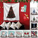 (贈燈飾)半島良品 聖誕款裝飾掛布125x145cm