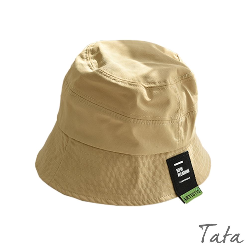 潮流標籤漁夫帽 共二色 TATA