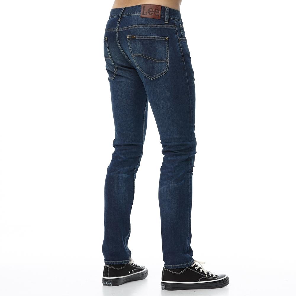 Lee 牛仔褲 707 中腰標準合身小直筒 男 深藍 彈性褲