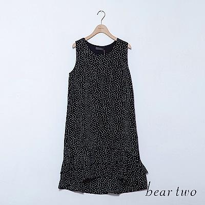 beartwo 無袖層次荷葉下襬洋裝(三色)