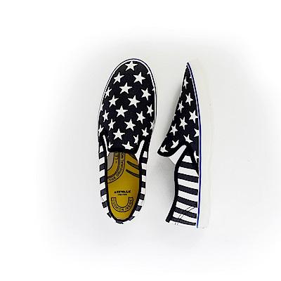 【AIRWALK】星星條紋帆布鞋-藍