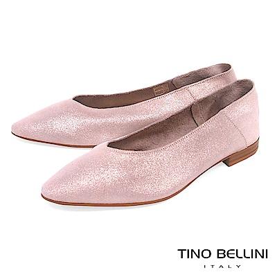Tino Bellini 義大利進口V型深楦平底包鞋_ 粉