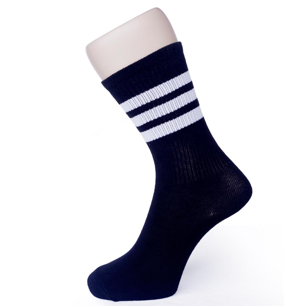 MIT 復古休閒條紋棉襪12雙 SE964