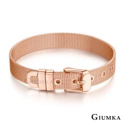 GIUMKA米蘭帶手鍊情侶款 簡約白鋼手環 玫金色細款 生日聖誕跨年紀念禮物推薦 單個價格