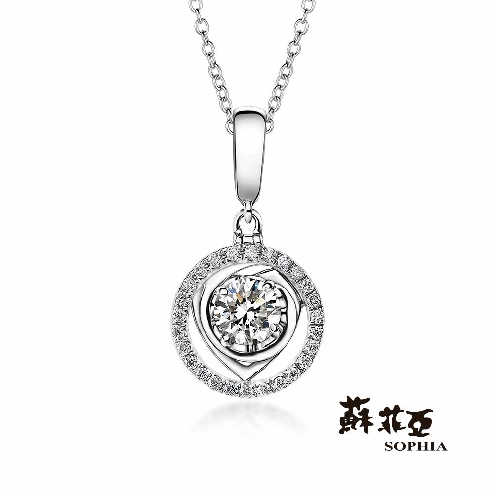 蘇菲亞SOPHIA -圓舞曲0.30克拉FVVS1 3EX鑽石項鍊