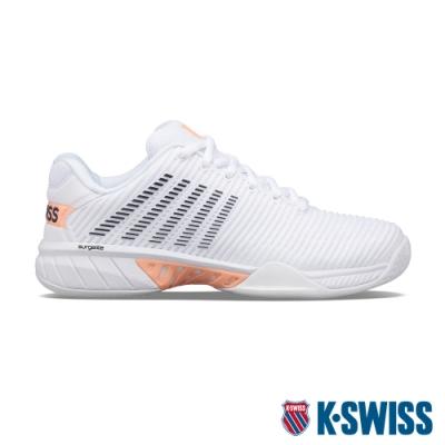 K-SWISS Hypercourt Express 2透氣輕量網球鞋-女-白/橘/深紫