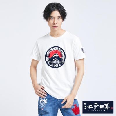 EDWIN EDO KATSU江戶勝 雷門富士山印花 短袖T恤-男-米白