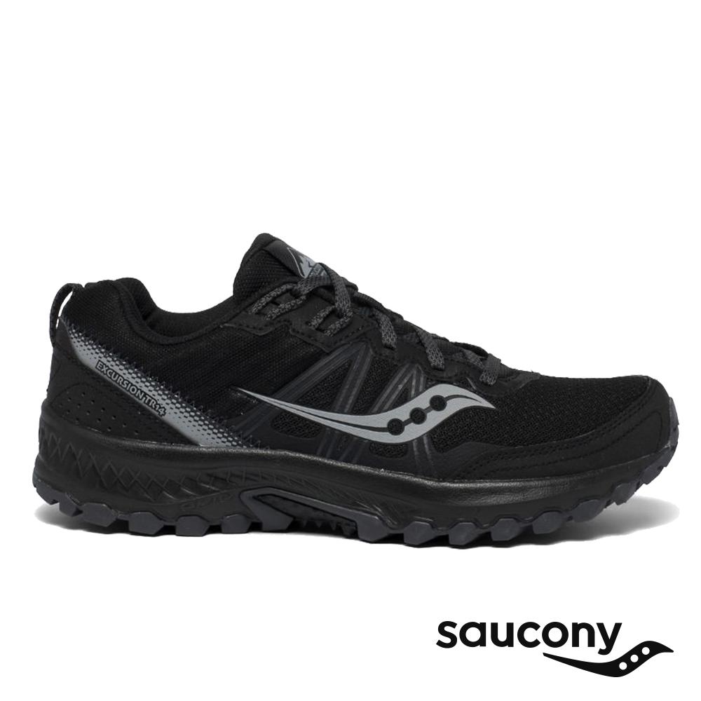 【Saucony】男 EXCURSION TR14 入門款全地型越野跑鞋(炭黑-SCS20585-1)