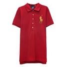Ralph Lauren THE SKINNY POLO大馬刺繡短袖POLO衫-紅色(L)
