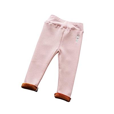 兒童 兔刺繡鬆緊腰刷絨褲 共三色 TATA KIDS
