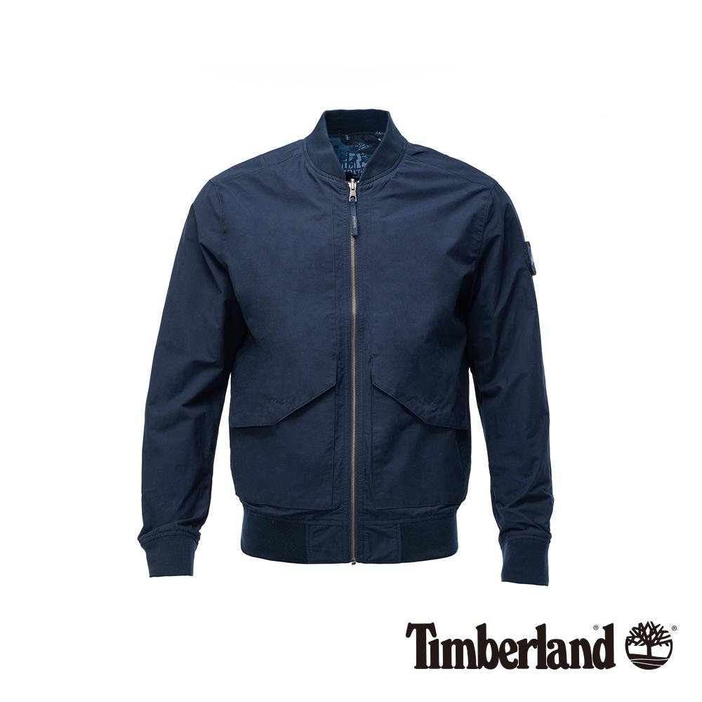 Timberland 男款深藍色兩面穿迷彩飛行夾克