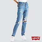 Levis 女款 501 Skinny 高腰排釦牛仔長褲 大破壞