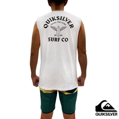 【 QUIKSILVER】ENJOY THE GLIDE MUSCLE 背心 白色
