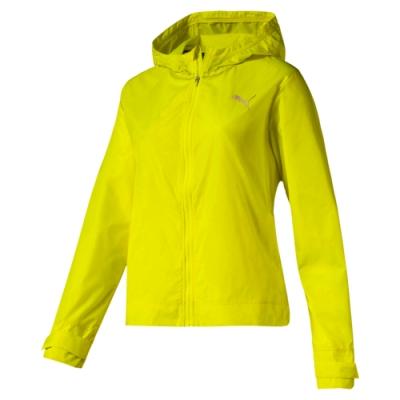 PUMA-女性訓練系列SHIFT可摺收風衣外套-警示黃-歐規