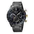 SEIKO 50週年紀念款計時手錶三眼腕錶-鐵灰(SSB363P1)
