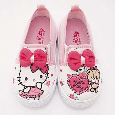 HelloKitty童鞋 不對稱休閒款 SE18746白(中小童段)