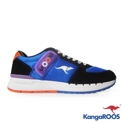 KangaROOS 美國袋鼠鞋 男 COMBAT 經典口袋鞋(藍黑)
