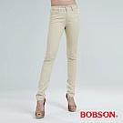 BOBSON 吸濕快乾小直筒色褲-沙黃 8128-72